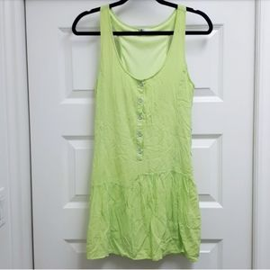 Neon lime green dress by Volcom
